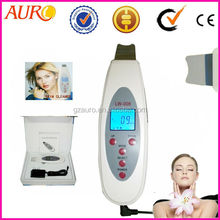 Promotion Au-006 mini facial cleaning ultrasonic skin scrubber hot new product for 2015