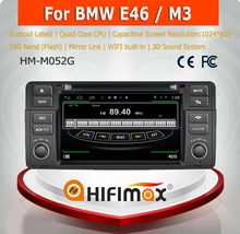 HIFIMAX Android 4.4.4 Quad core 16G car radio for BMW bmw e46 m3 car dvd gps WITH Capacitive screen HD1024*600 Resolution