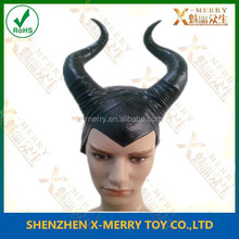 MALEFICENT Deluxe MALEFICENT Deluxe Headpiece Rubber Latex Hat Horns Sleeping Beauty Costume