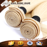 Russian Hair 613 Blonde Hair Weave long human hair weave