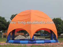 Portable CE certification inflatable adult swimming pool cover, inflatable pool tent