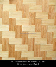 china laminated woven bamboo wood veneer sheets for furniture,wall,longboard paper thin face skins