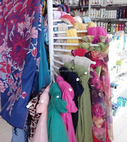 pashmina scarf display fixtures, clothing shop hijab scarf display stands
