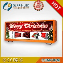 2015 new design for Taxi Sign Top Light and Taxi Roof Sign for advertising screens