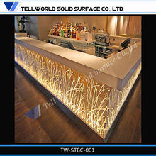 2015 Newest LED Bar Artificial Marble Bar Counter for Sale/Modern Commercial Furniture