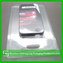 PET/PVC plastic clamshell packaging for cell phone case