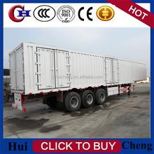 china tri-axle van type semi trailer for goods transportation