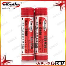 650mAh 3.7v battery Sibeile 13500 battery Special design for e-cigarette 3.7v/1.5v rechargeable battery