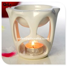 romantic room decoration ceramic fragrance oil lamp, scented tealight holder