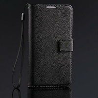 new arrival Cross Pattern genuine leather smart cover case for samsung galaxy note 3 flip cover