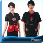 bordado rodada restaurante chinês garçom e garçonete uniforme