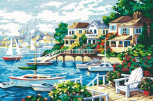 Beaufiful seascape painting hot sale diy digital oil painting