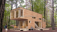 cheap prefab houses china with galvanized steel base/prefabricated homes cabins with platform/container home