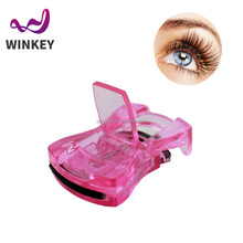New products 2016 mini colorful automatic transprent plastic eyelash curler