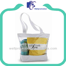 Wellpromotio brand pvc clear vinyl beach handbags for lady