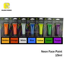 alibaba express Golden Phoenix glow in the dark Fluorescent Neon UV face paint