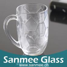 424ml Machine Pressure Transparent The Football Cup Glass Beer Mug