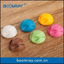 Multi-purpose Cable Clips Bright Colors ball pens with metal clip