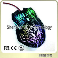 Brand new LED 6D wired rainbow optical mouse
