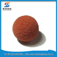 China concrete delivery line putzmeister sponge pipe cleaning ball