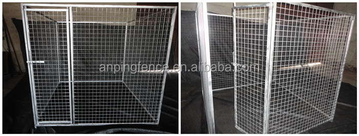 High quality galvanized large dog carrier cage sales by manufacturer