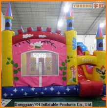 economic inflatable jumping combo with slide for kindergarten