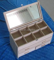 wooden cosmetics storage box natural wood style