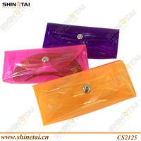 transparent soft PVC triangle sunglasses cases