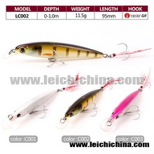 Stock available 95mm 11.5g plastic hard fishing lure