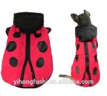 la mariquita traje a prueba de viento chaqueta de abrigo para perros ropa para niño y niña medio los perros grandes