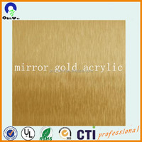 wholesale thick cheap price cast Clear crystal high density plexiglass/pmma/mirror silver mirror gold acrylic