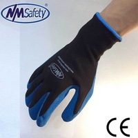 NMSAFETY 2015 13 gauge latex coated glove/latex work gloves/gloves wholesale