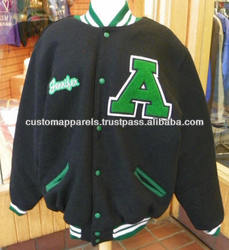 Custom Varsity Jackets With Your Own Design & Specifications/ Custom Varsity Jackets With Chenille Patches & Embroidery