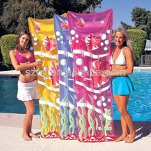 sexy pvc colchón inflable de playa para vacaciones de descanso