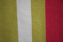 100% cotton yarn machine woven six color can do stripe cotton rug