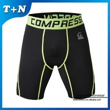 nylon/lycra men exercise compression workout shorts