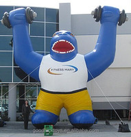 Fitness Mart Inflatable blue Gorilla/Giant Inflatable Animals