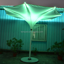 Colorful strong best windproof patio party led umbrellas