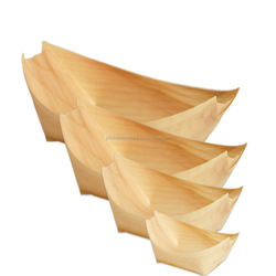 bamboo wood suhsi boat container for food