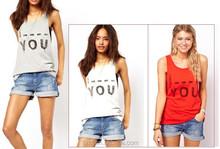 Womens Cotton Plain Dyed Sportswear Tank Top, Wholesale woman top