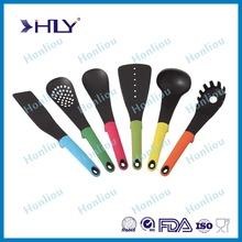 2015 Hot Sale food grade nylon silicone kitchen tool set/silicone kitchen accessories/kitchen utensil