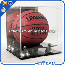 Autograph NBA Full Size Basketball Acrylic Display Case w/ Mirror ball display stand