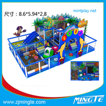2015 indoor playground shopping mall playground kaiqi little play house double side luxury kitchen for kids day care pla