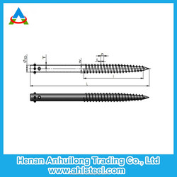 Ground screw pile for solar mounting system construction high installation efficiency Y76x1700x3