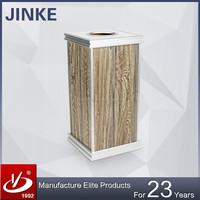 Wooden Squared Ashtray Trash Bin/Metal Indoor Waste Bin