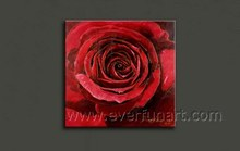 red roses oil paintings on canvas for home decor