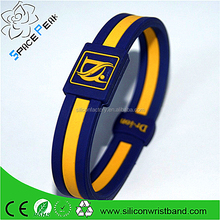 Colourful 1000 Ion Silicone Wristband Power Energy Hologram Bracelet Band For Sport
