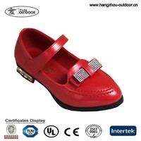 Baby Girls Pretty Casual Shoes, New Design Dress Shoes For Children, Red Leather Fashion Shoes