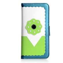 Fancy factory price leather cell phone case for Samsung Galaxy S6