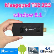 android tv stick Intel Atom Z3735F Android TV Dongle 2GB/32GB Bluetooth Wifi meegopad t02 ANDROID MINI PC